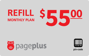 PagePlus  Prepaid $55 Refill Top-Up Prepaid Card ,PIN / RECHARGE