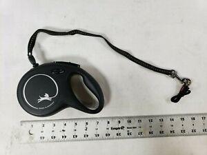 Flexi Black Explore Retractable Automatic Flexible Rope Belt Dogs Leashes