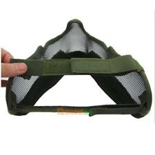 Airsoft Paintball Mesh Protecting Mask Half Face with Ears(green) #ORP