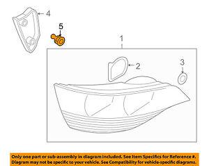 AUDI OEM 09-16 Q5 Taillight Tail Light Lamp Rear-Cover Nut 4L0945230A