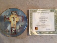 Franklin Mint Collectible Plates - Four (4), Sacred Heart, Jesus Christ