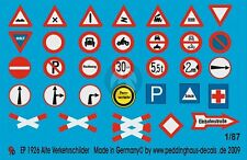 Peddinghaus 1/87 (HO scale) German Early Traffic Signs (33 signs) [Decal] 1926
