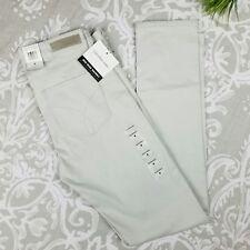 Calvin Klein Jeans Ladies Sateen Mid-Rise Skinny Pant Size 8 Light Grey