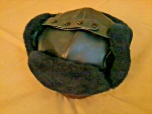Mouton Fur/Deolon Trooper Hat, Navy Size 7-1/8 (M), NEW, Langenberg Hat, USA