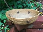 Early 1900's Antique Washoe Indian Oval Basket Tahoe California / Nevada Area