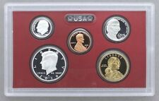 2010 90% SILVER PROOF PARTIAL 5 COIN SET lincoln kennedy+ NO BOX