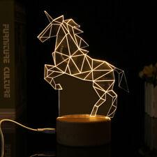 Pferd 3D LED USB Nachtlicht Drive-by-wire Schalter Acryl Tisch Schreibtisch Lamp