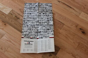 """Early 1980's Montreal Expos 15"""" x 32"""" team history baseball poster"""