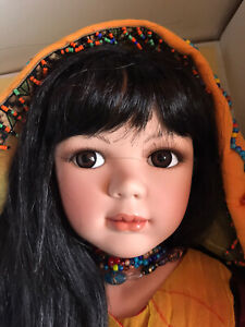 """New Show Stoppers 27"""" """"Aria"""" Asian/Islander Porcelain Doll with Jug #20/2500"""
