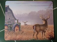 John Deere Barn Whitetail Deer  Country Anti slip COMPUTER MOUSE PAD 9 X 7i