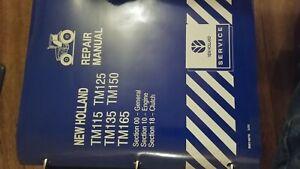 New Holland TM115 TM125 TM135 TM150 TM165 Tractor Repair Manual NH Original