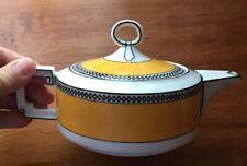Heinrich H&Co IMPERIAL HC835 Yellow Black Art Deco TEAPOT Selb Bavaria 1930-39