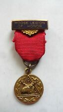 Vintage Loyal Order of Moose Legion Medal of Honor Pin, Pouch and Lapel Pin