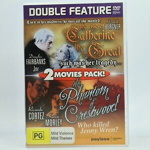 Catherine The Great / The Phantom Of Crestwood 2 Movie DVD AC Free Tracked Post