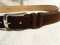 MEZLAN brown leather belt 32 (mens) Spain
