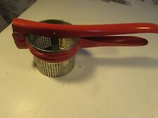 Vintage Potato Ricer with red handle