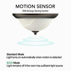 """11""""/13"""" Motion LED Flush Mount Round Ceiling Light Oil Rubbed Bronze 3000K/4000K"""