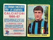 CALCIATORI 1966/67 66/1967 INTER Gianfranco BEDIN Figurina Sticker Panini (NEW)