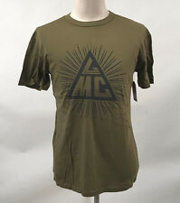 Loser Machine Men's T-Shirt Eye Opener Army Green Size M NWT Pyramid