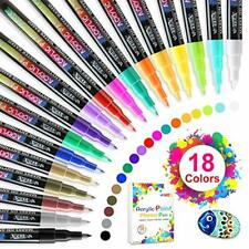 Acrylic Paint Markers Pens Set with 18 Colors Acrylic Paint Pens for Rocks