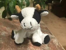 Russ Luv Love Pet Pets Mookie Plush Cow Bull Cream Chamois Black