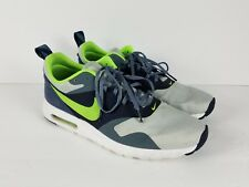 Mens NIKE Air Max Tavas 705149 003 Grey Mist Flash Lime Blue Sneakers Size  11 1b29a9774