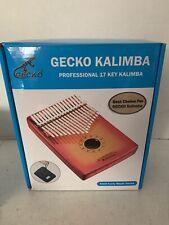 Gecko Kalimba 17 Keys Thumb Piano In Box Maple