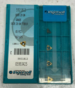 INGERSOLL 08IR20UN TT8010 internal 20 TPI carbide threading inserts