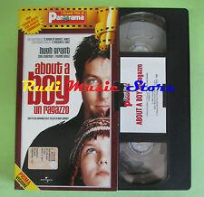 film VHS cartonata ABOUT A BOY UN RAGAZZO Hugh Grant PANORAMA (F16) no dvd