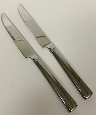 2 Reed & Barton Perspective Dinner Knives Stainless 18/10 Flatware