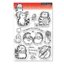 PENNY BLACK RUBBER STAMPS CLEAR STUCK ON YOU VALENTINE STAMP SET