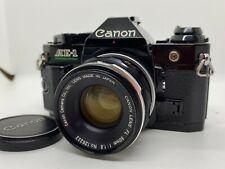 【Body NEAR MINT】 Canon AE-1 Program Film Camera & 50mm F1.8 FL Lens JAPAN #1977