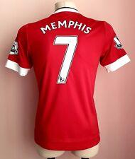 Manchester United 2015 - 2016 Home football Adidas shirt Memphis size S