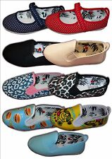 Kids Girls Boys Canvas FLOSSY Flossies sizes 3-6  (19-39) CLEARANCE