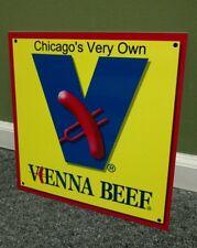 Vienna Beef Chicago hotdog sign ...restaurant fast food