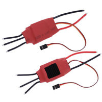 50A 2-7S Brushless ESC Speed Control OPTO 5V 3A BEC for RC Airplane - Set of 2