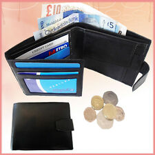 Wallet Mens Purse Genuine Leather Pocket Money Gents Bifold ID Credit Card SW005
