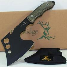 Elk Ridge Hardwood Full Tang Throwing Axe Camping Hiking Hunting Knife + Sheath