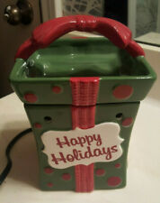 """SCENTSY """"All Wrapped Up"""" RETIRED Warmer Holiday 7""""x5"""" Christmas Present"""