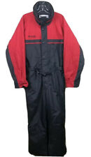 Columbia Sportswear Hooded Ski Snow Suit one piece Red black - Men's Large