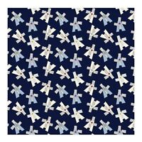 White Eagles on Dark Blue Mary Fons Collection Quilting Fabric by Yard #717