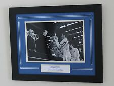FRAMED Dave Mackay Tottenham Spurs HAND SIGNED Autograph Photo Mount + COA Proof