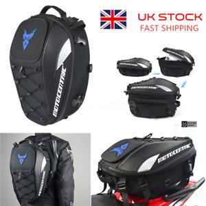 Motorcycle Rear Seat Tail Bag Backpack Motorbike Luggage Helmet Storage Bag J9S5