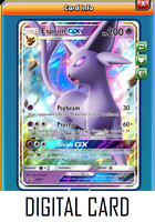 Pokemon TCG ONLINE Espeon GX SM35 (DIGITAL CARD) Ultra Rare Black Star Promo