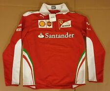 SWEATSHIRT Fleece Scuderia Ferrari Mens Sponsor Formula One F1 Red White