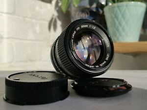 Canon New FD 50mm F1.2 MF Fast Standard Prime Lens with Caps