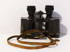 WW1 Pair Binoculars Military with Strap Unbranded GERMAN or ENGLISH ? #B