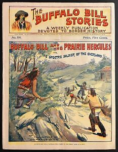 1901 BUFFALO BILL WESTERN COWBOY & INDIAN STORIES PULP FICTION DIME NOVEL 4 BOYS
