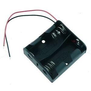 C x 2 Open Battery Holder 150mm Leads
