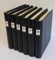Bundesrepublik 1949 bis 2000 postfrisch + gestempelt, 6 Lindner-T-Alben 11.000€